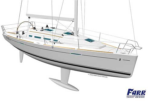 Beneteau first 35 bow