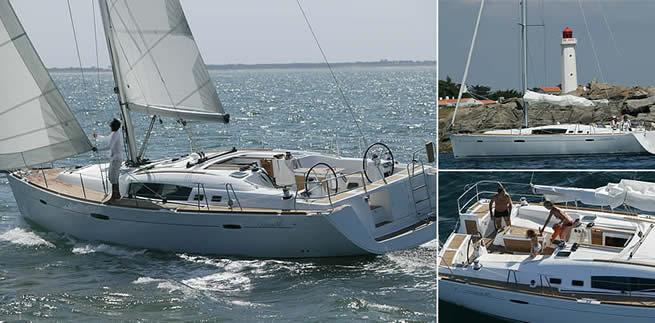 Beneteau Family 46 sailing images with interior