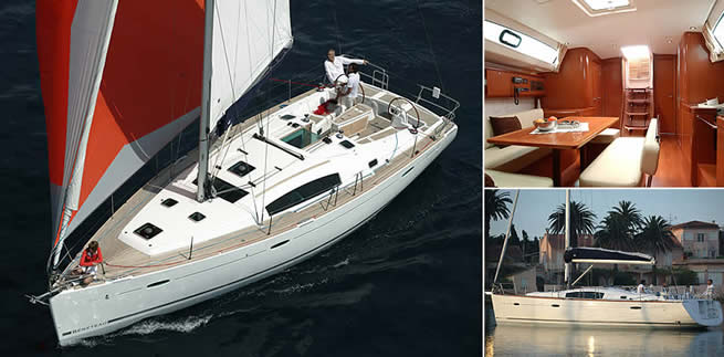 Beneteau Océanis 43 sailing images with interior