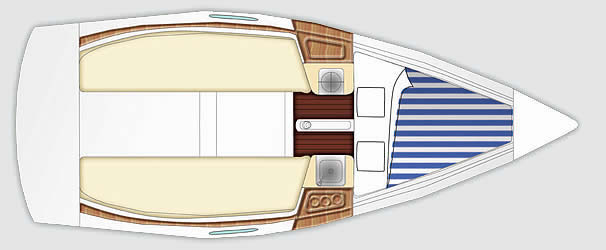 beneteau First 21.7s plan
