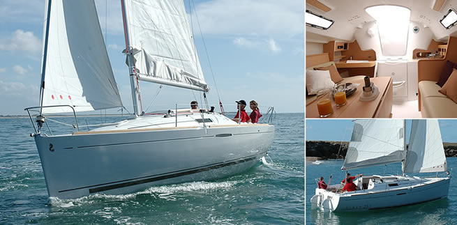 Beneteau First 25 sailing images with interior