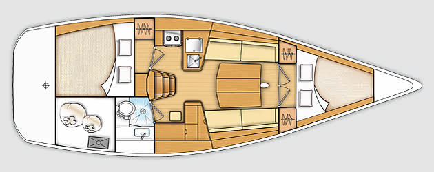 beneteau First 35 plan