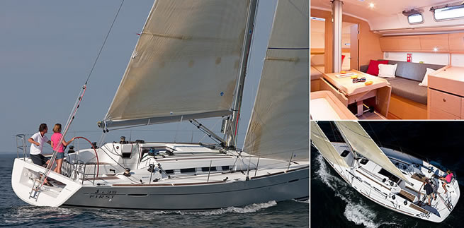 Beneteau First 35 sailing images with interior